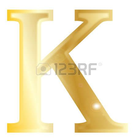 Kappa - a letter from the Greek alphabet isolated over a white  photo