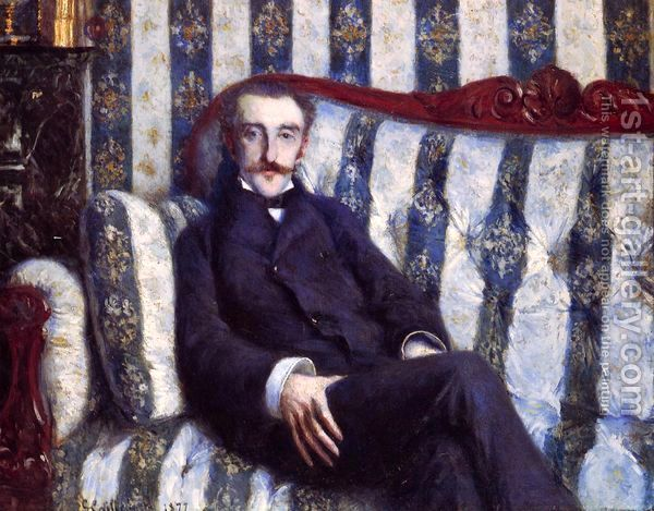 Gustave Caillebotte:Portrait of a Man