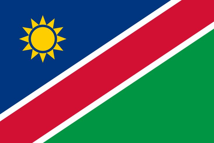Flag of Namibia - Namibia - FLAGS OF THE WORLD : More Pins Like This At FOSTERGINGER @ Pinterest