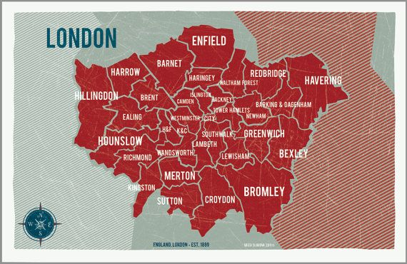 london map poster by vassi slavova