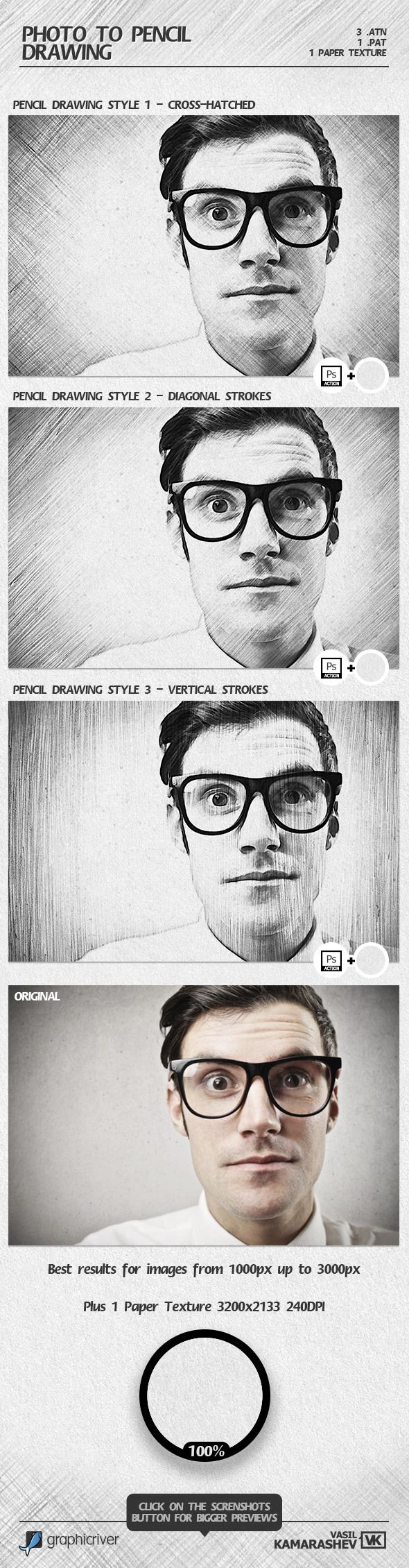 Photo to Pencil Drawing #photoeffects #ps #action Download: http://graphicriver.net/item/photo-to-pencil-drawing/6808971?ref=ksioks