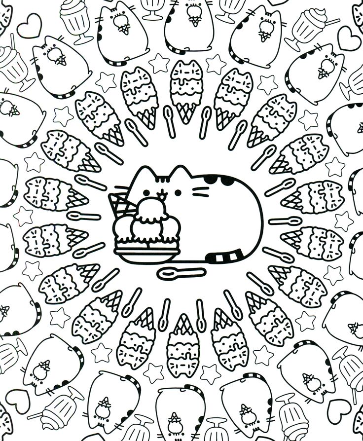 133 best Art - Furry Friends Cats \ Kittens - DIY Pusheen Coloring - best of coloring pages black cat