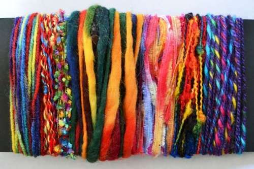 LUXURY KNITTING YARN PACK - 7 MIXED COLOURS IN 5M LENGTHS - RAINBOW MULTICOLOURS | eBay