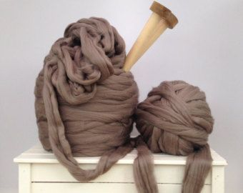 Big yarn. GIANT Super bulky Merino Extreme by WoolCoutureCompany