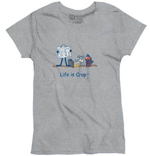 Dog Pee Ladies T-Shirt