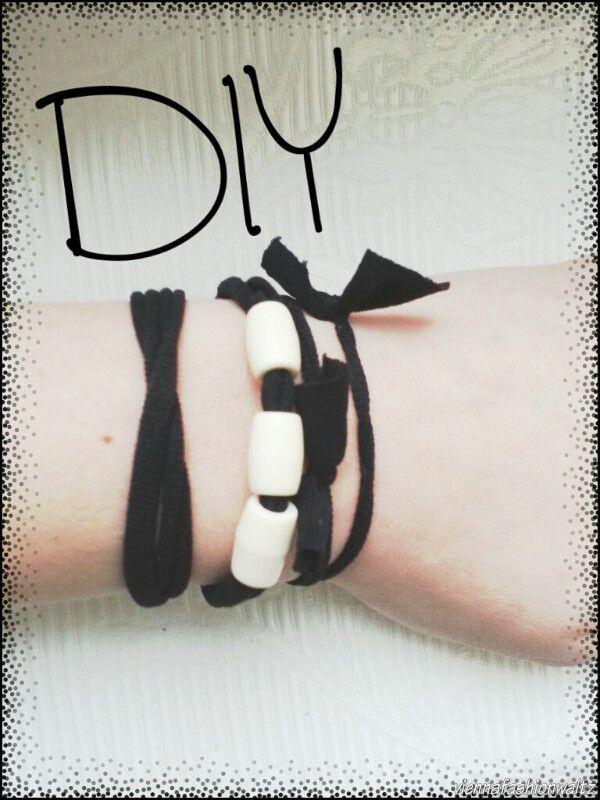 DIY, Upcycling Armband, Haarspange, Strumphose