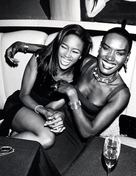 Can U say crazy girls......Grace Jones & Naomi Campbell