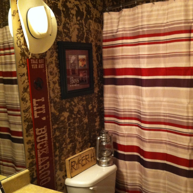 Cowboy bathroom...doing this in the new house!!