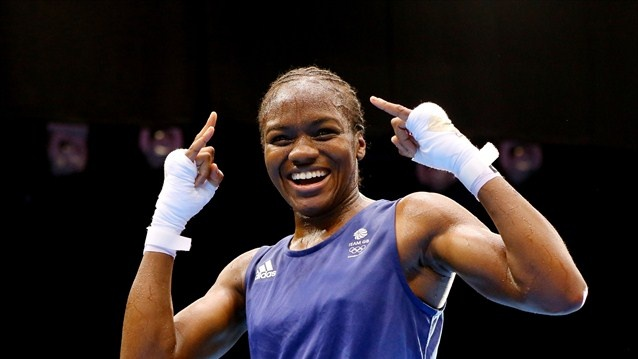 Adams claims historic gold.  Nicola Adams sealed her golden moment with an Ali shuffle as she overwhelmed China's double world champion Ren Cancan 16-7 to be crowned the first ever Olympic women's Boxing champion at ExCeL.  Nicola Adams celebrates winning the gold medal in the women's Fly Weight final on Day 13 at London 2012.  (aug 9, 2012)