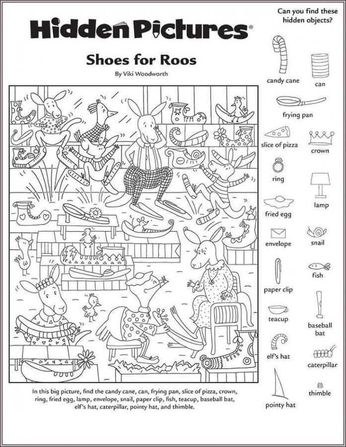 Free hidden picture worksheets