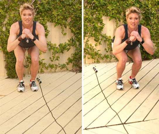 looks like a quick but good workout with only one piece of equipment needed - a jump rope!