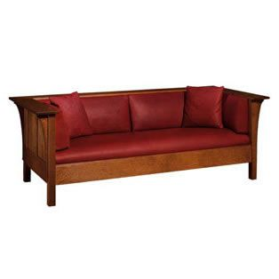 The Prairie Settle by Stickley Furniture.  Fine leather upholstery. A timeless classic.