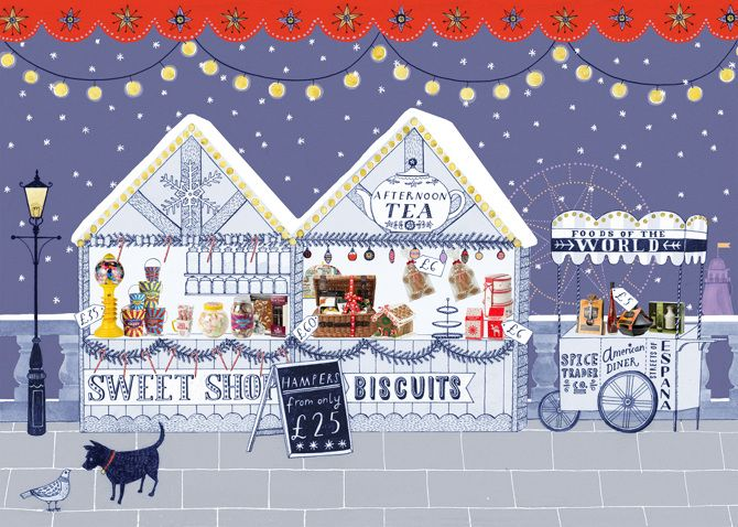 BHS Christmas - Lucy Panes Illustration