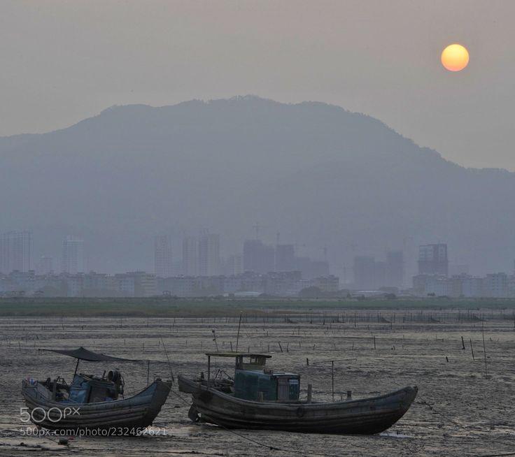 退潮 (三秦阳光) #NIKON D3S #landscape #photo #nature