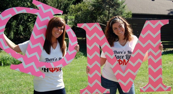 Phi Mu letters- super light to hold for photos