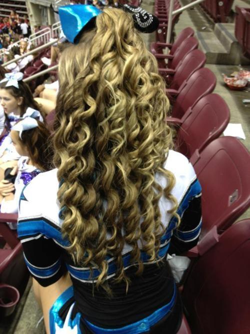 Competition cheerleading hair #cheerleader #cheerleading #cheer