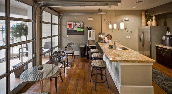 Garage Doors For Open Space In Game Room Multifamily