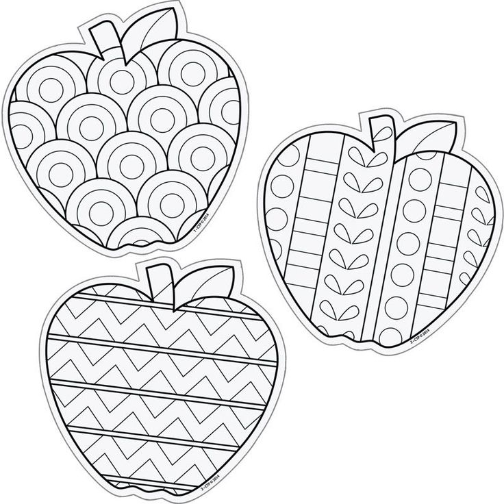 Color Me 6 Designer Cut Outs Apples