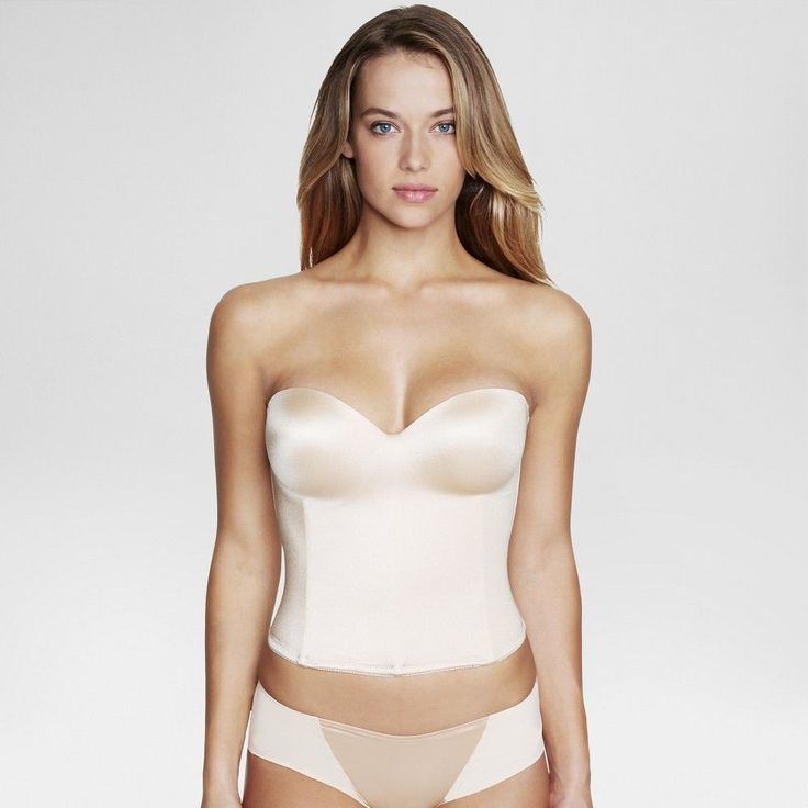 Dominique Hidden Underwire Longline Bridal Bra #8541 - Nude 32DD, Women's