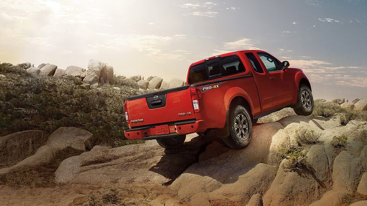 Nissan Frontier® PRO-4X® King Cab shown in Lava Red.