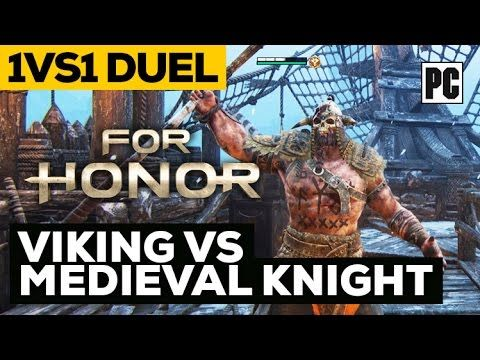 #forhonor For Honor Closed Beta PC Gameplay - Viking vs Medieval Knight 1vs1 Duel
