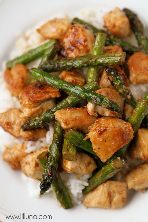 Healthy and delicious Lemon Chicken and Asparagus Stir Fry - YUM ...
