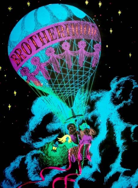 "Black light poster - ""Brotherhood"""