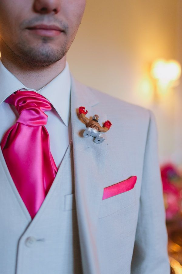 Luchador #boutonniere #Groom   Photo: www.janiceyiphotography.ca  Wedding Planner: www.traceymevents.ca Featured on: Wedding Obsession Wedding Blog http://www.weddingobsession.com/2014/01/29/luxurious-mexico-inspired-style-shoot/