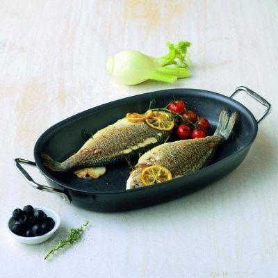 FISSLER - Special Fish - Patelnia do ryb Ø36 cm z pokrywką - Sklep Fissler. Kawa Lavazza. Wyposażenie Domu i ogrodu. Grille Broil King. Ekspresy do kawy