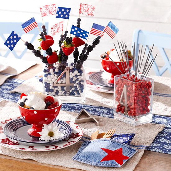 Edible 4th of July Centerpiece