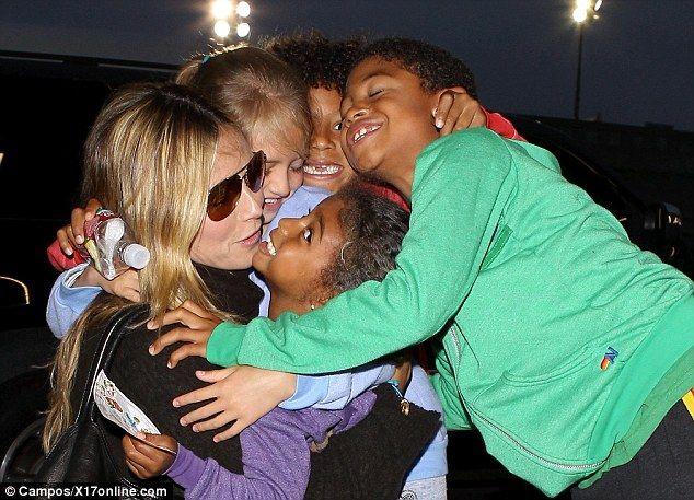 Heidi Klum with her kids