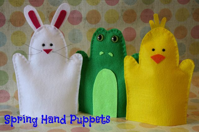 DIY Easter Hand Puppets, Spring Hand Puppets, Kids Crafts