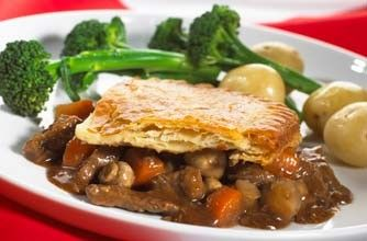 Tasty Hairy Bikers Steak and Ale pie for dinner tonight