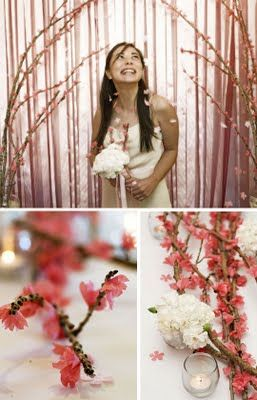DIY Cherry Blossom Branches    This tutorial shows how to mke cherry blossom branches our of real branches and tissue paper... no petals dropping on the floor. I love it!