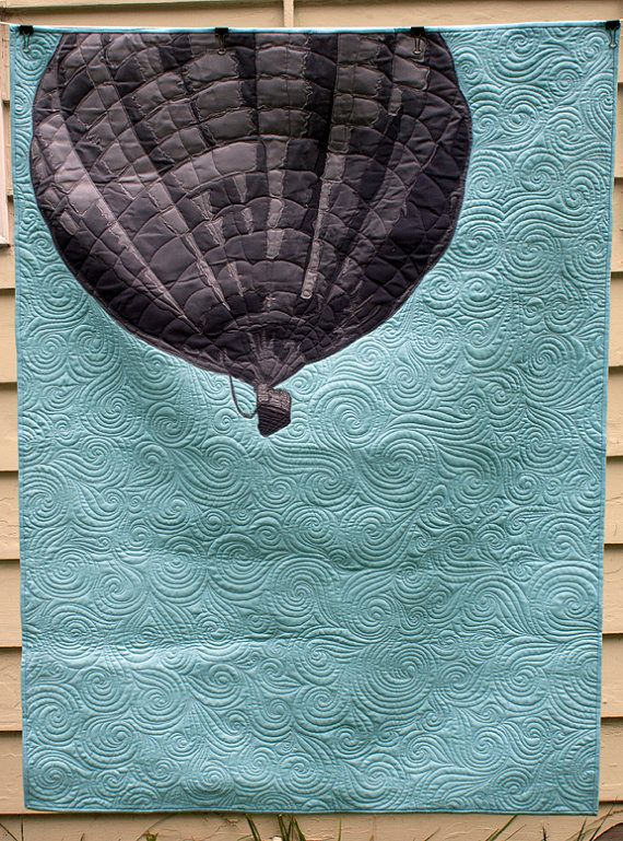 Drift Away - Hot Air Balloon Quilt I would want the balloon in a different color but omg I want it!!!
