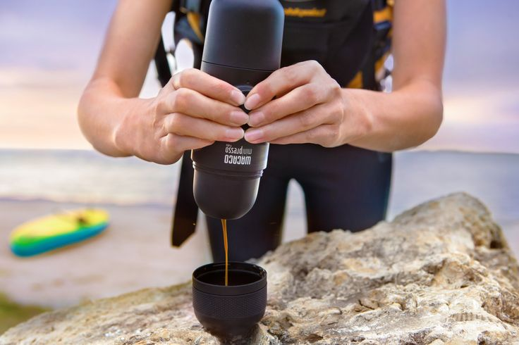 Minipresso Portable Espresso Maker is the perfect coffee making companion to take on all your outdoor adventures! Need a little extra energy boost on the water? Fuel up with your favorite brew before heading out! #espresso #coffee #portableespresso #portablecoffee #espressomaker #espressomachine #giftideasforcoffeelovers #espressoanywhere #wacaco #minipresso