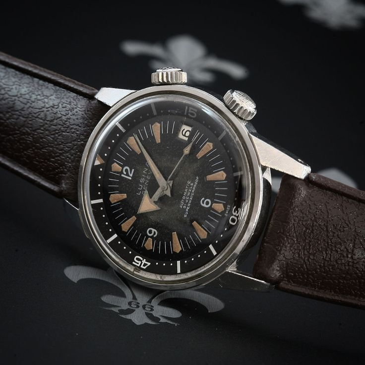 July 1962 LUSINA Super Compressor Ref. 695572 Vintage Dive Watch ETA Cal. 2452