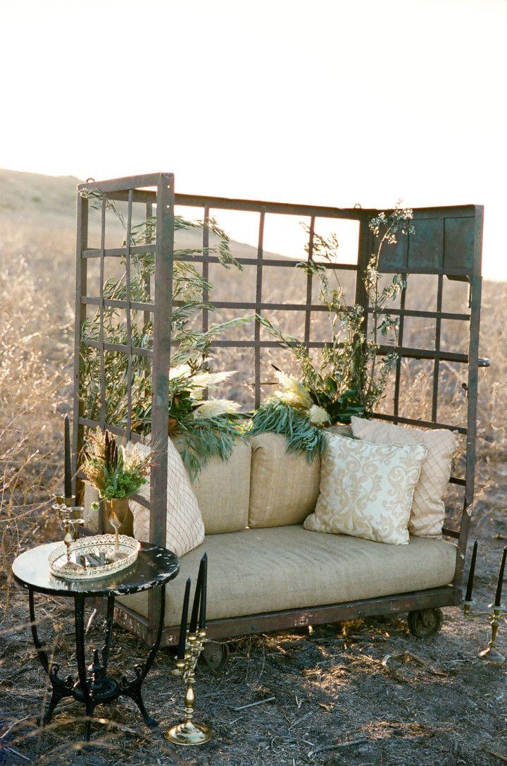 Gothic Bohemian Fall Wedding Inspiration Shoot from WINK! Weddings - rustic outdoor wedding idea