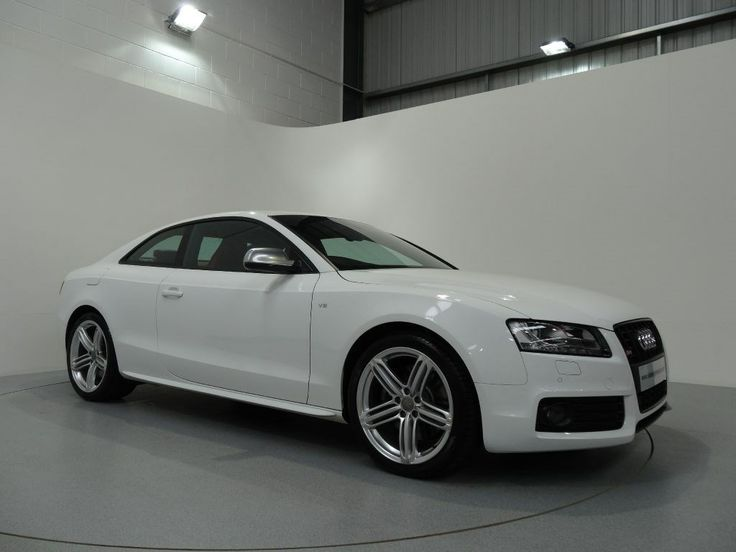 Audi S5 42 V8 Coupe Finished In Ibis White With Red Silk Nappa Leather Interior