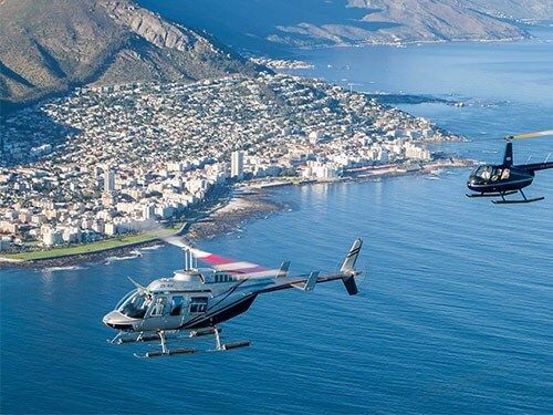 Helicopter Flips Cape Town