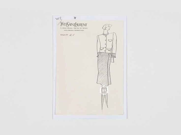 Connu 156 best Yves Saint Laurent Sketches images on Pinterest | Sketch  PS01
