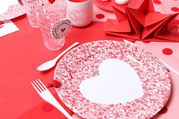 Table rouge passion pour la Saint Valentin - Mesa Bella Blog