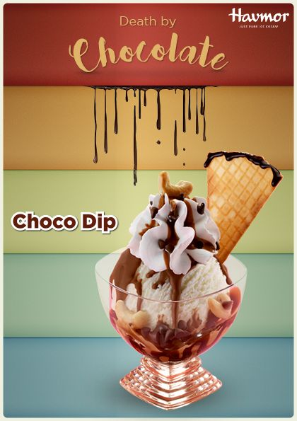Indulge in the taste of Chocolate heaven with every bite of Choco  Dip for a true-to-the-word  #DeathByChocolate.