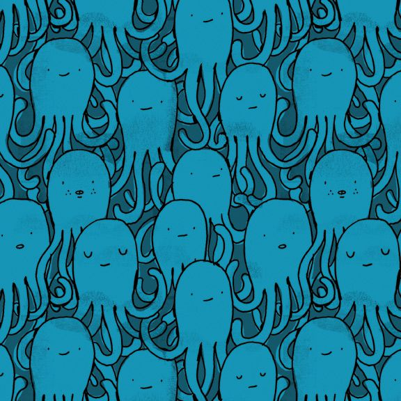 Octopus repeat pattern by Mike Lowery. He was my last illustration professor!