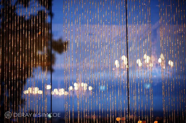 Crystal curtain. City skyline.  Wedding reception styling, ideas and inspiration. Reception Venue: State Reception Centre Perth  Photography by DeRay & Simcoe
