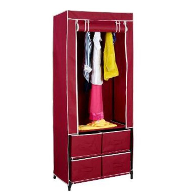 New Clevr Portable Closet w/ Drawers Space Oraganizer Traveling Wardrobe Dresser