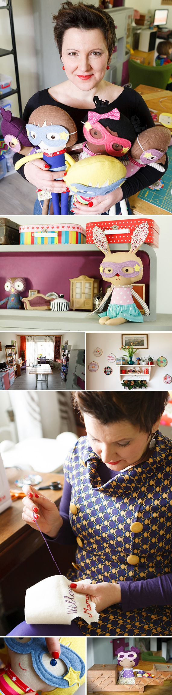 """""""I was looking for opportunities to express myself. Through sewing I found a way to get closer to who I wanted to be."""" Thanks to a midlife artistic awakening, this mom of three launched her own line of bespoke superhero dolls celebrating every child's unique strengths. Meet Emese"""