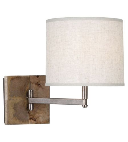 Robert Abbey 829 Oliver 1 Light 5 inch Uned Mango Wood with Patina Nickel Wall Sconce Wall Light #LightingNewYork