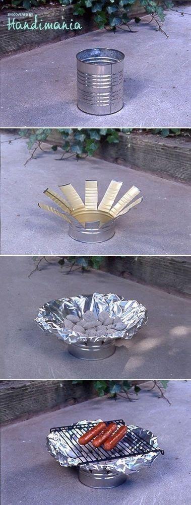 diy tin can grill