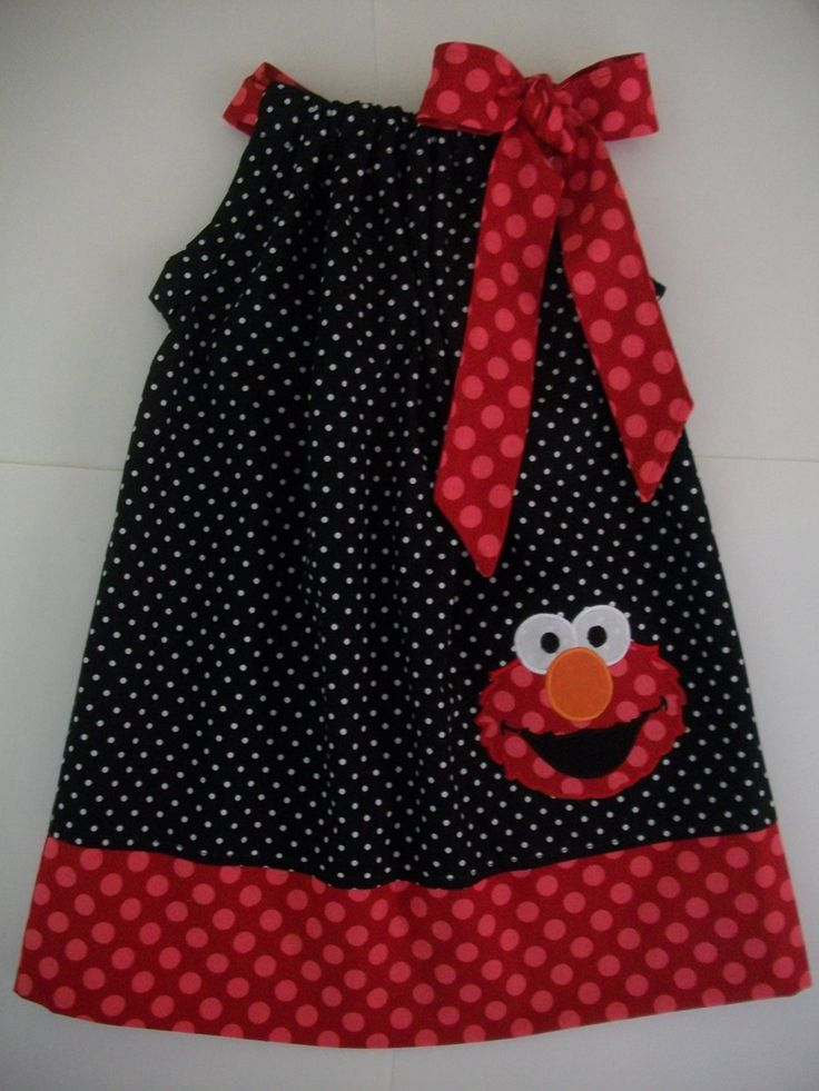 Elmo pillowcase dress Sizes 3 months to 8 years old, gift given, birthday party…